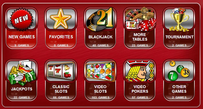 find overview of the variety of games at 32red casino
