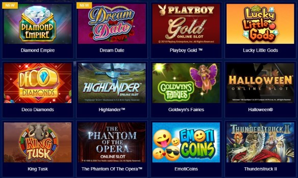 Enjoy the large variety of games at the All Slots Casino!