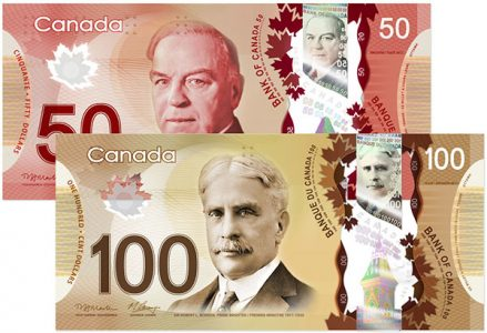 what is the payout percentage in canadian dollars
