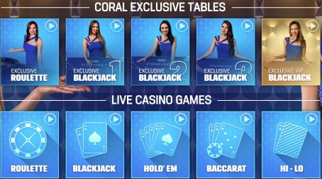 Does Coral casino has live-dealer games?