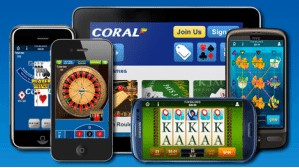 On what kind of mobile devices can I play at Coral casino?