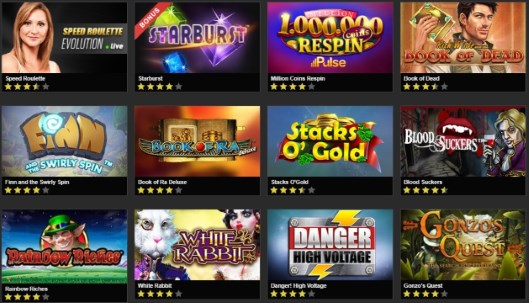 NetBet casino offers some of the most popular games on their website.