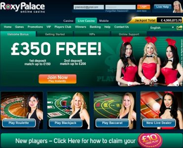 what are the live games at roxy palace casino review