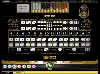 sic bo casinos euro